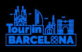 Tour in Barcelona logo in blue color